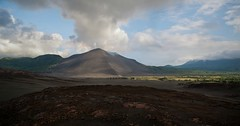 Ash Plains leading up to Mount Yasur Volcano, Tanna Island, Vanuatu [3657x1919] [OC]