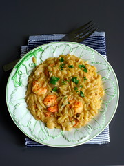 King prawn orzo with sherry