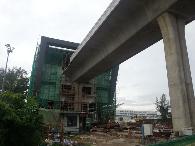 LRT Construction at Taipa Ferry Terminal