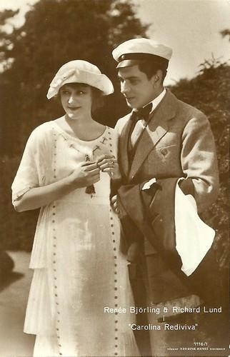 Renée Björling and Richard Lund in Carolina Rediviva