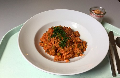 Serbian rice with meat / Serbisches Reisfleisch