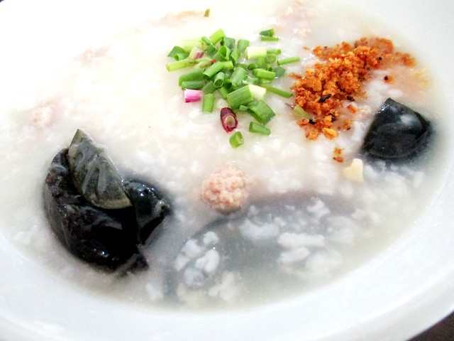 A-One century egg meat porridge