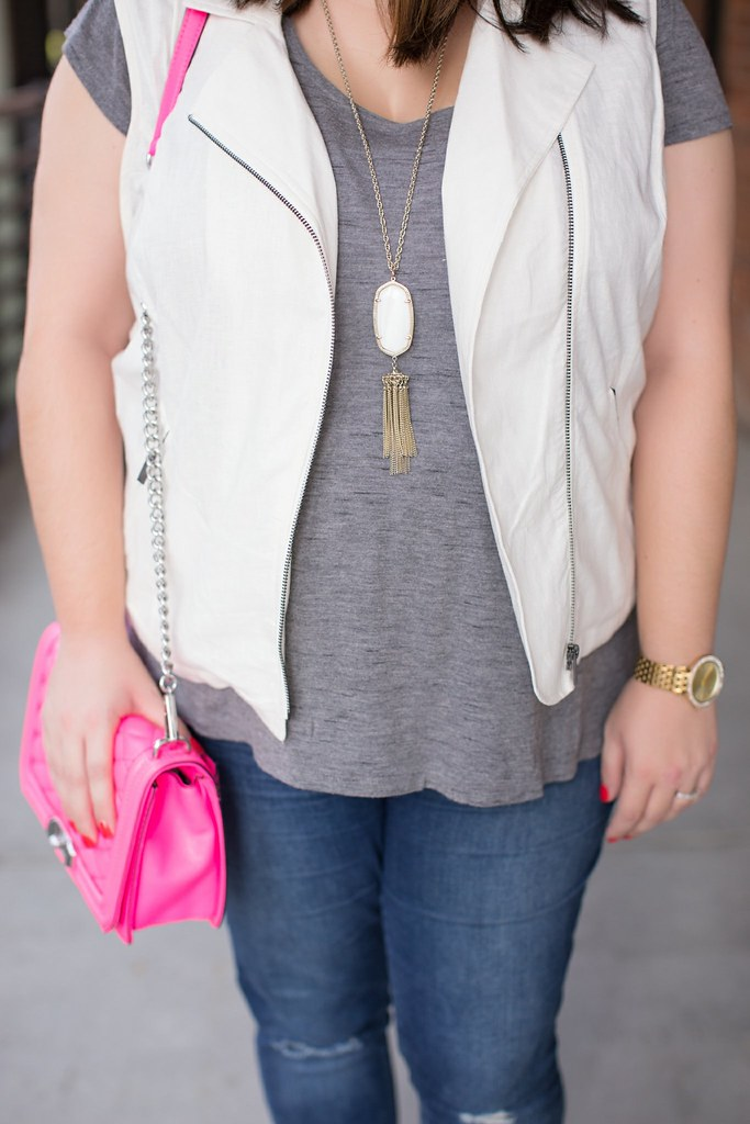 Head to Toe Chic, fall transition outfit idea, tassel necklace