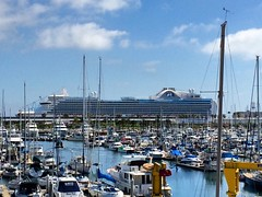 Incredibly large #cruise #ship in #sanpedro #port of #losangeles