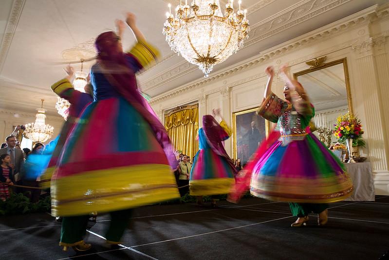 Swirling dancers