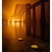Forth Bridge in the mist from Hawes Pier by NorthernXposure