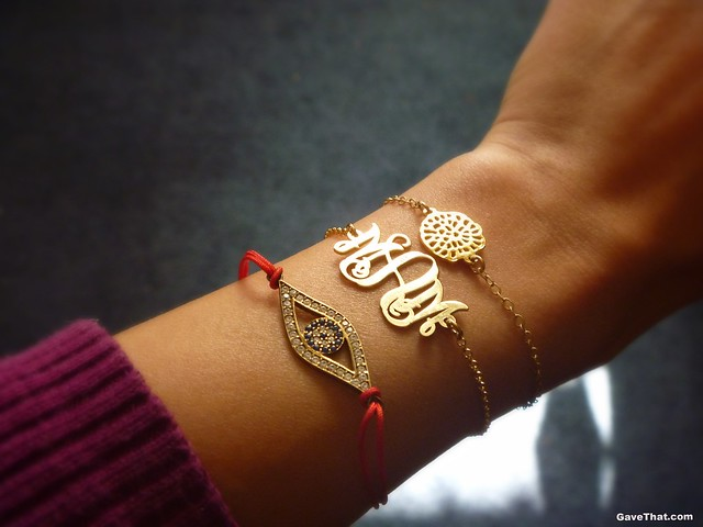 Monogrammed bracelet by oNecklace