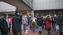 Speaker at Black Lives Matter protest