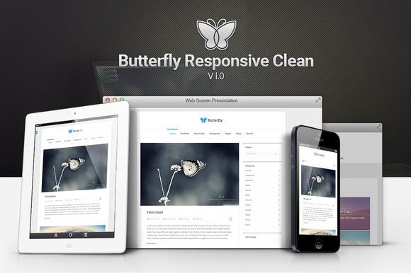 Creativemarket Butterfly v1.0 - Responsive Clean Blog