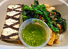 grilled tofu and broccolini from Munchery