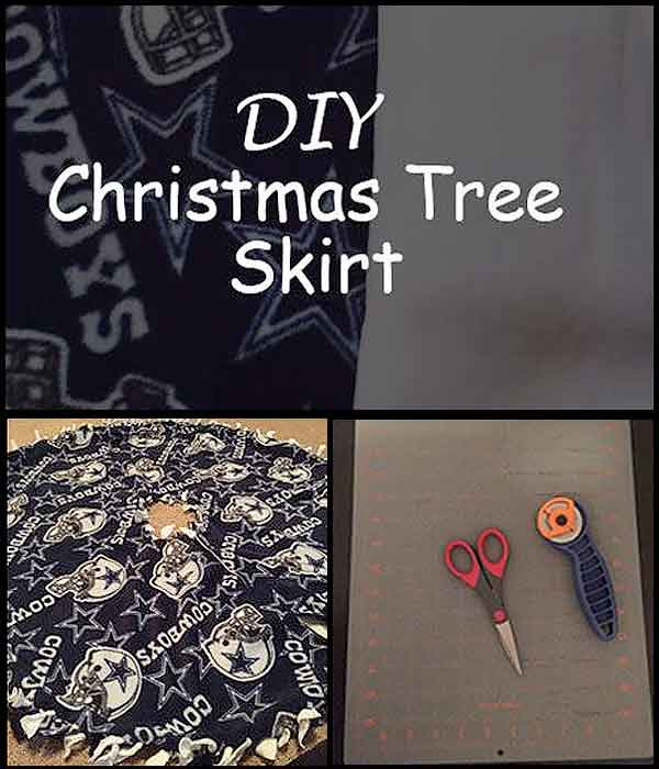 DIY Christmas Tree Skirt by Lewis Lane