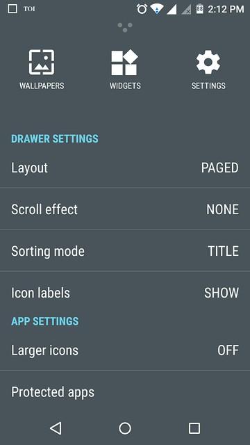 Cyanogen App Drawer