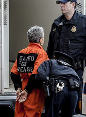 A Member of Witness Against Torture Arrested for Participating in a Demonstration Inside the Hart Senate Office Building