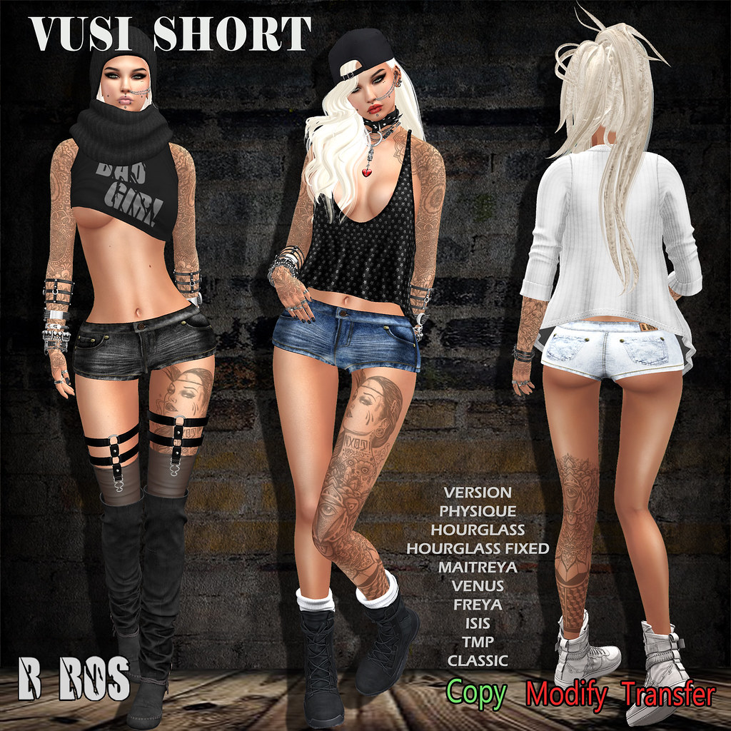 B BOS -Vusi Short- - SecondLifeHub.com