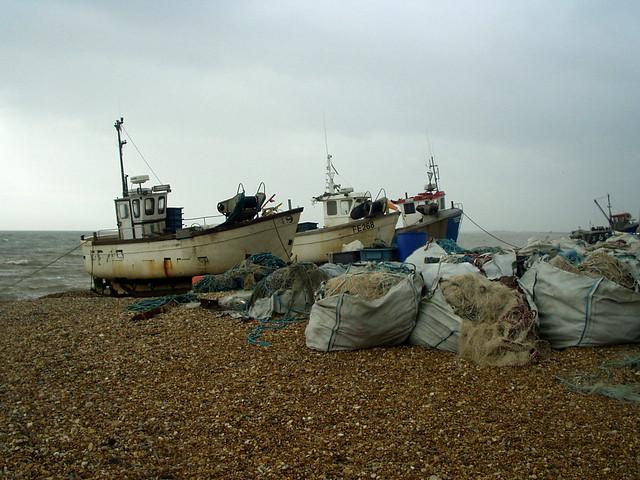 Fishing boats at Hythe