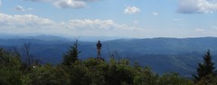 Eric at 5084' Little Pinnacle on Twin Pinnacles Trail - Grayson Highlands State Park