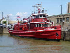 motor ship, vehicle, ship, harbor, channel, fireboat, watercraft, boat, waterway,
