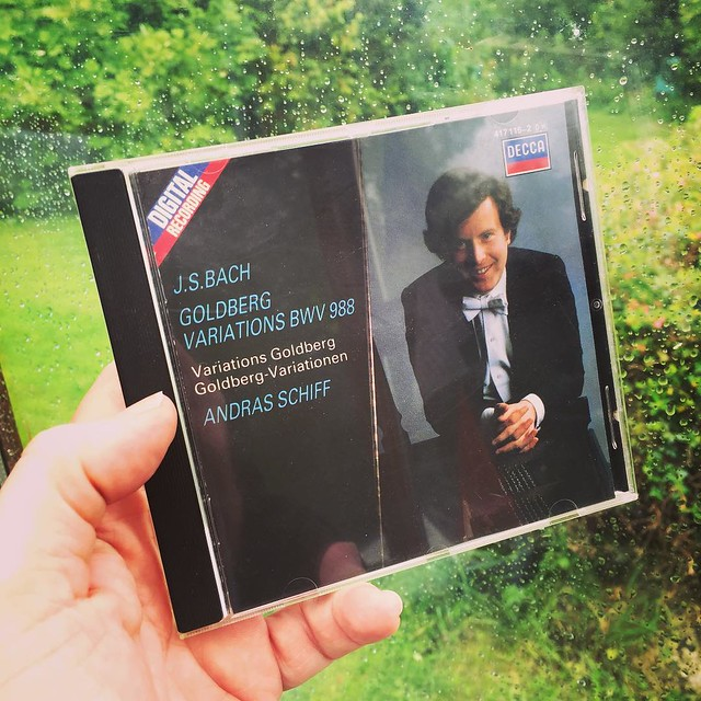 Today's featured CD on a rainy afternoon  -- a repeat due to its tastiness. #musicaljourney #Bach