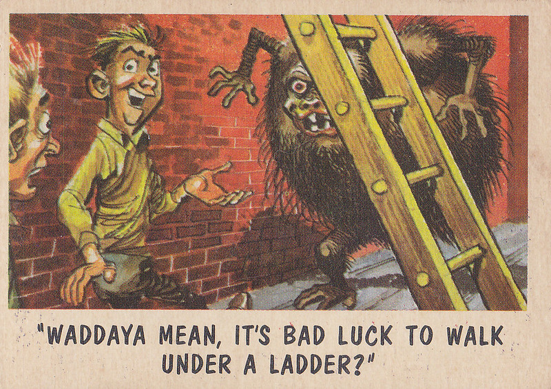 """You'll Die Laughing"" Topps trading cards 1959,  illustrated by Jack Davis (48)"
