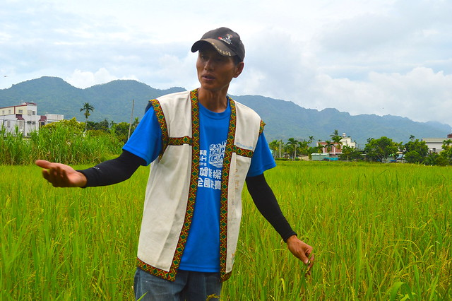 太巴塱部落青年蕭明山相信,紅糯米是部落轉型的契機。攝影:謝宗璋。