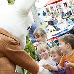 The Dormouse | The Dormouse from Alice in Wonderland entertains children at the Book Festival © Helen Jones