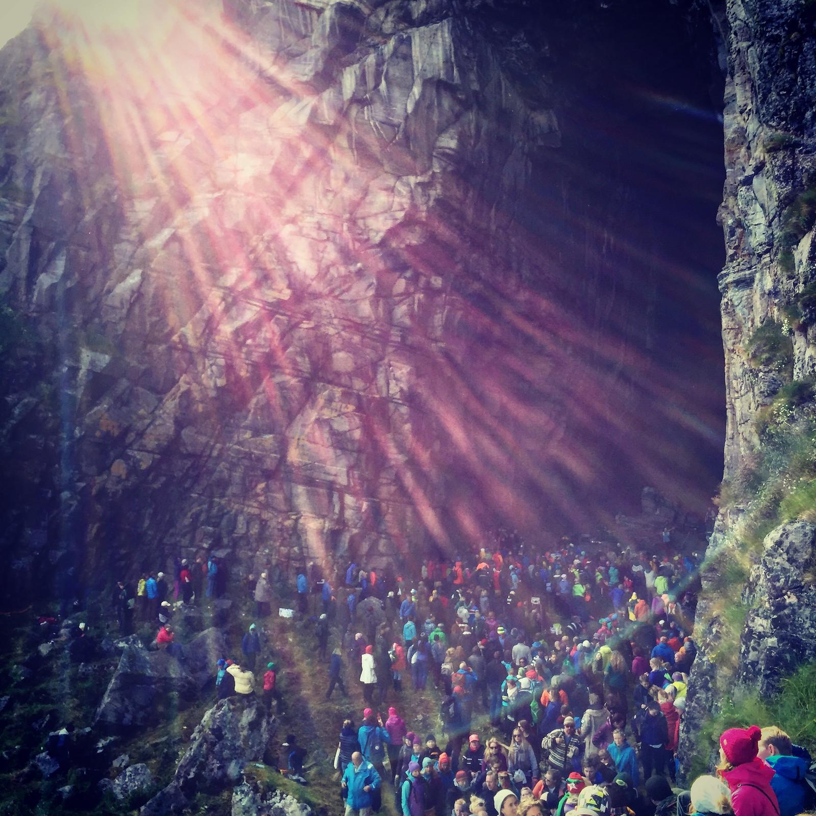Sunlight at Kirkhelleren