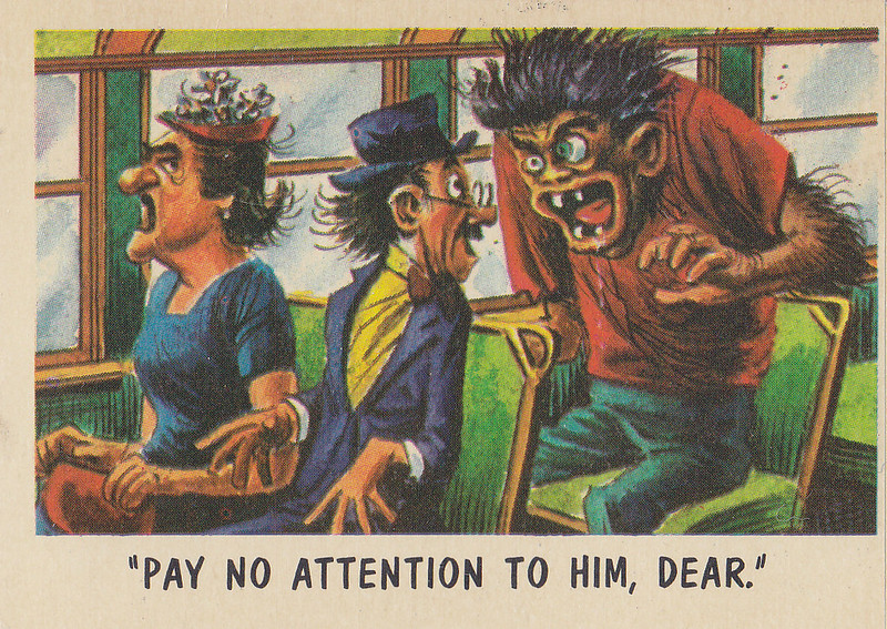 """You'll Die Laughing"" Topps trading cards 1959,  illustrated by Jack Davis (50)"