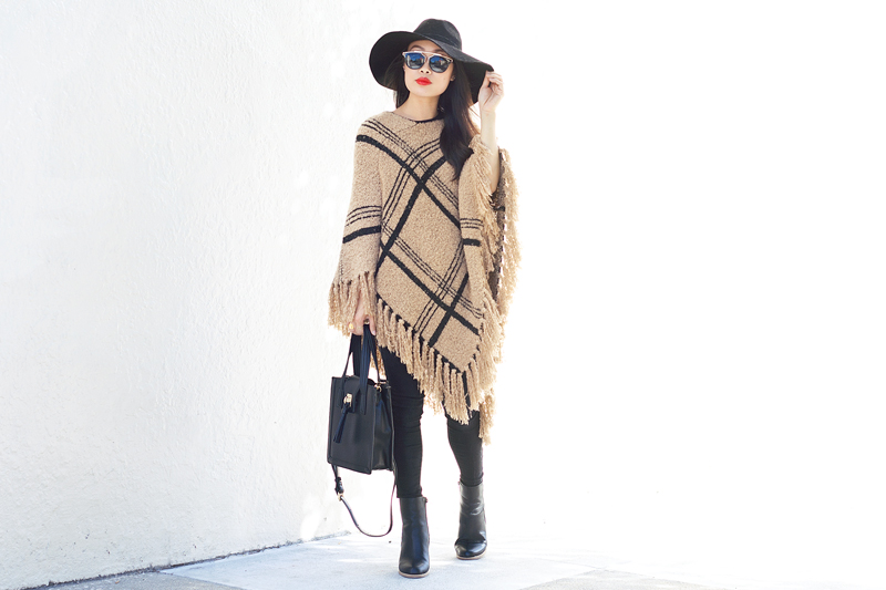 02-plaid-knit-fringe-poncho-hat-sf-fashion-style