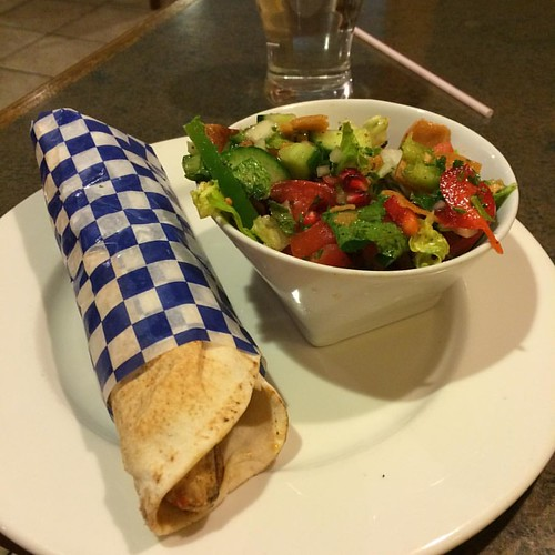 Chicken kebab and fattoush salad #yeg