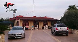 Casamassima-Nuova operazione dei Carabinieri contro il clan Di Cosola-La villa sequestra al pregiudicato Ranieri