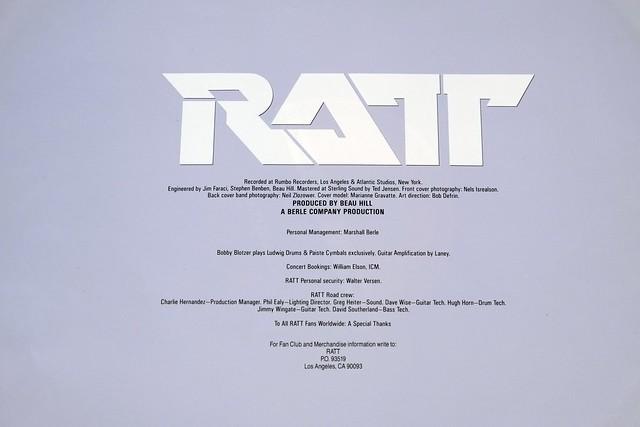 "RATT INVASION OF YOUR PRIVACY NO GEMA LOGO OIS 12"" LP VINYL"