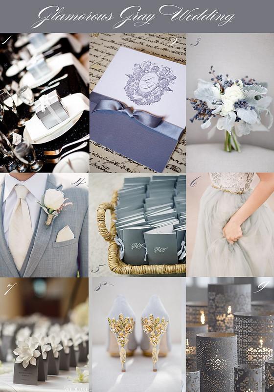 Glamorous Gray Wedding