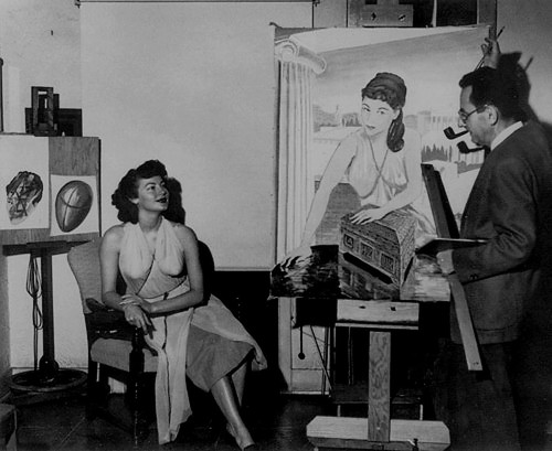 Pandora and the Flying Dutchman - backstage - Ava Gardner & Man Ray - Photo 2