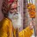 Sadhu in Varanasi by andrej-trcek