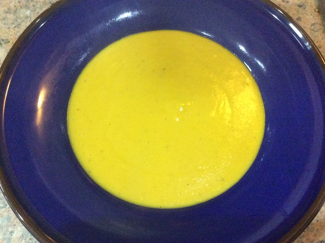 Finished squash and coconut soup