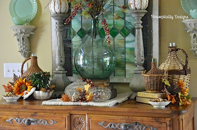 Fall French Buffet Vignette - Houseptality Designs