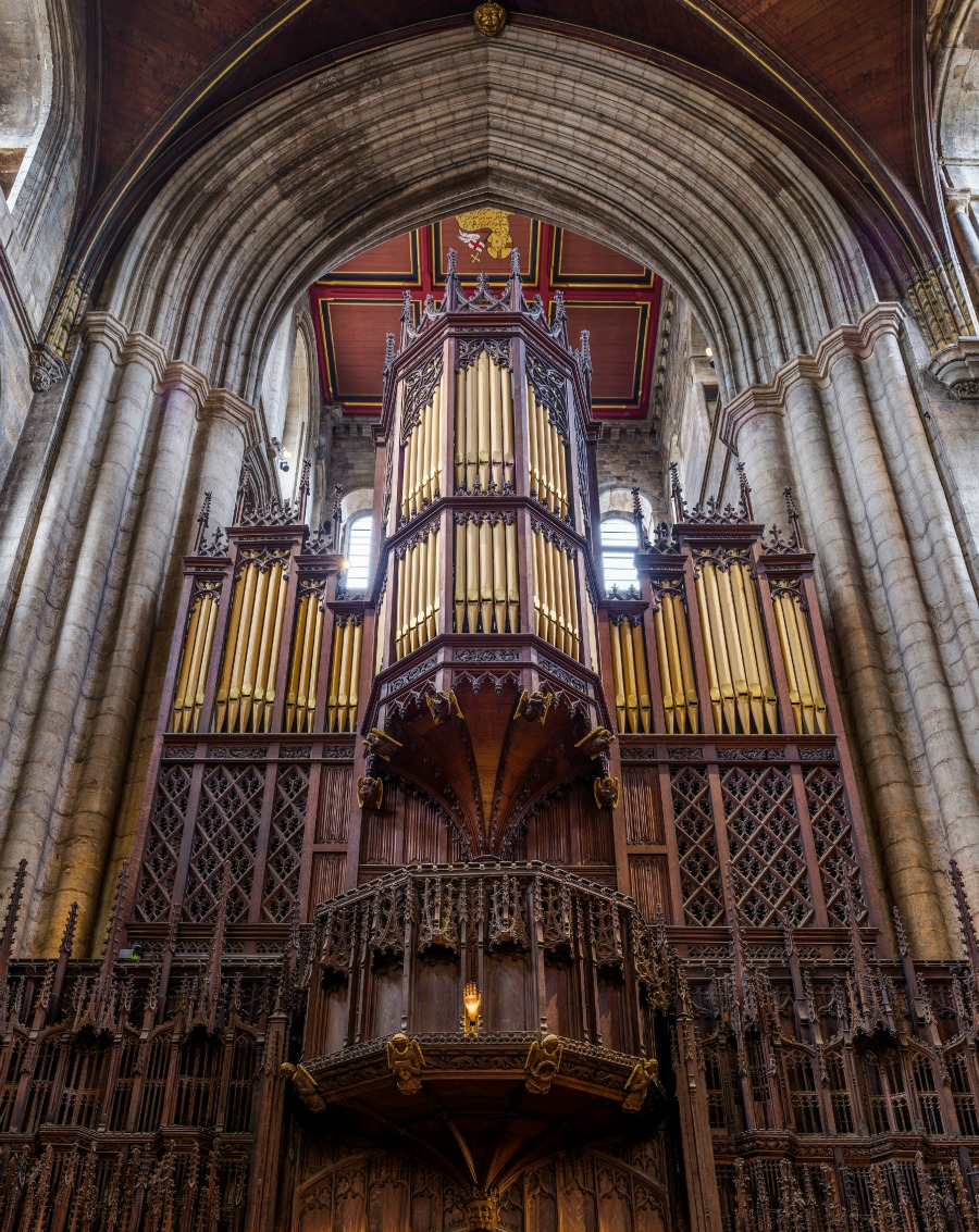 Ripon Cathedral - The organ. Credit: David Iliff