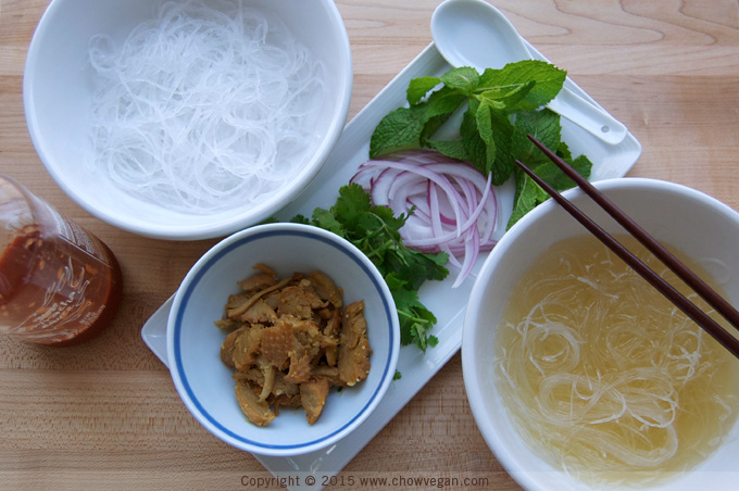Lemongrass Noodle Bowl with Mock Duck