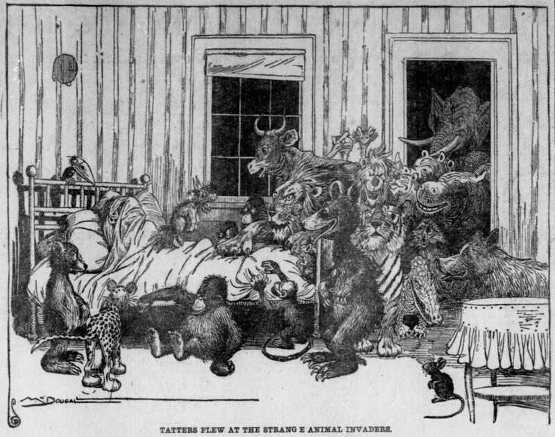 The Salt Lake herald., November 16, 1902, Tatters Flew At The Strange Animal Invaders