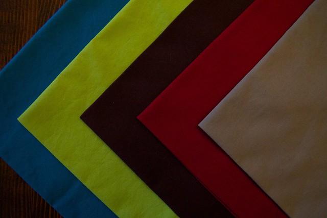 colorful holiday napkins