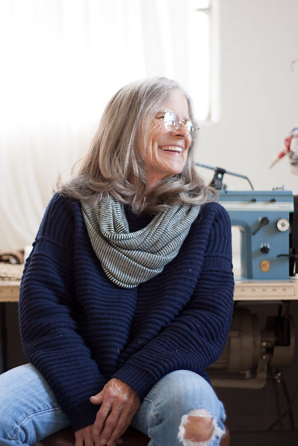 Judy Kendall in home studio