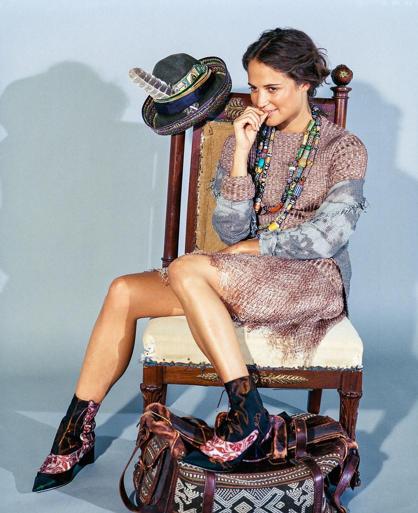 Алисия Викандер — Фотосессия для «DuJour» 2015 – 8