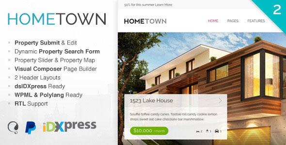 Hometown v2.9.0 - Real Estate WordPress Theme