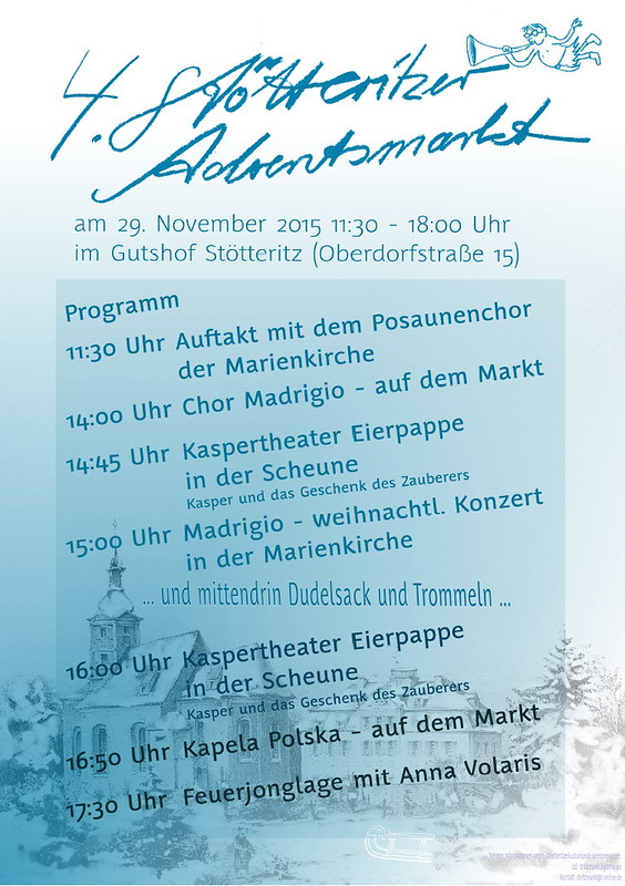 Sonntag: Adventsmarkt in St.Ötteritz