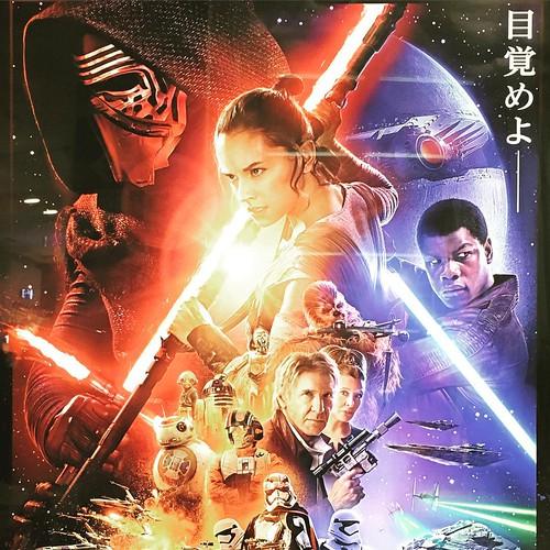 フォースの覚醒 The Force Awakens  観て来ました。 でも、興奮を鎮めておやすみなさい。 ;^_^A  I saw the movie at last, but I'd better calm down and go to bed.  :-)  #starwars #スターウォーズ #フォースの覚醒   #じゅのー部 #JUNO