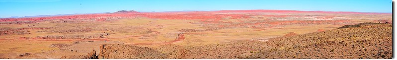Painted Desert Panorama From Pintado Point