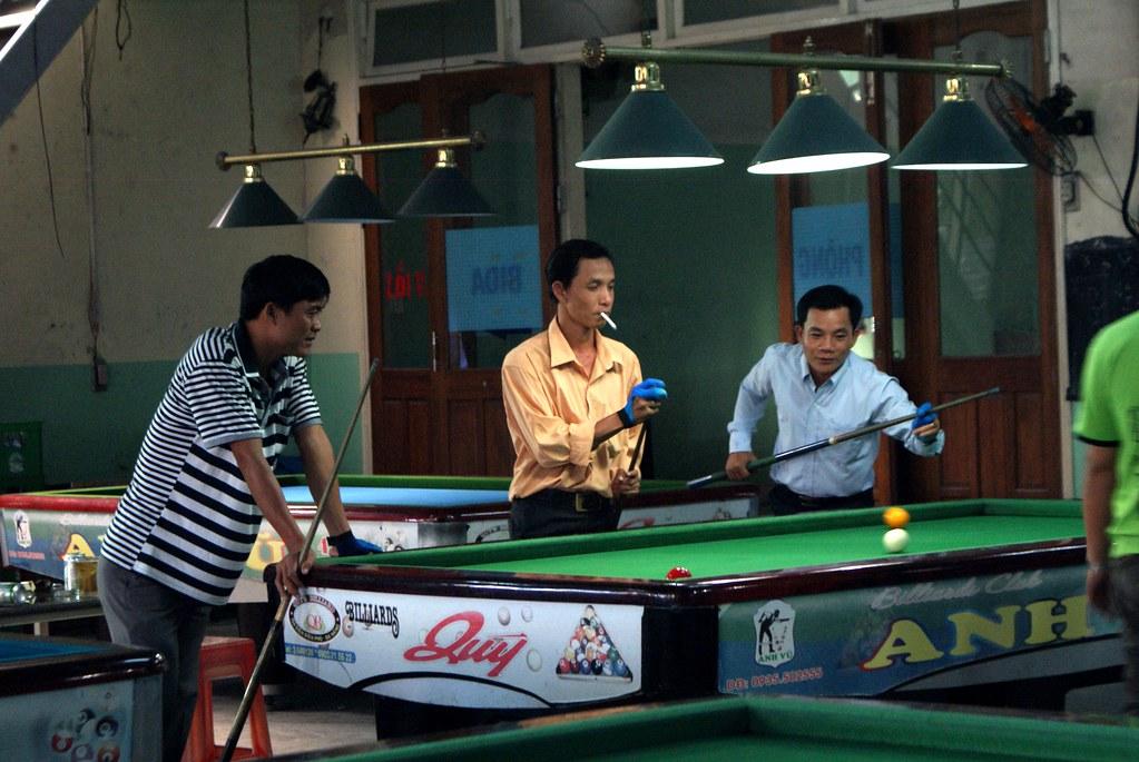 Salle de billards à Hoi An au Vietnam.