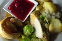 Roast Turkey, Roasties, Sausage & Bacon, Bruss…