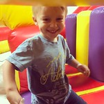 Archer had fun at his school friend's birthday party today at Bounce U. by bartlewife