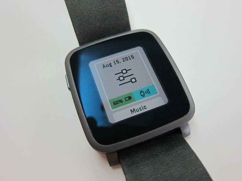 Pebble Time Steel Watch - Settings